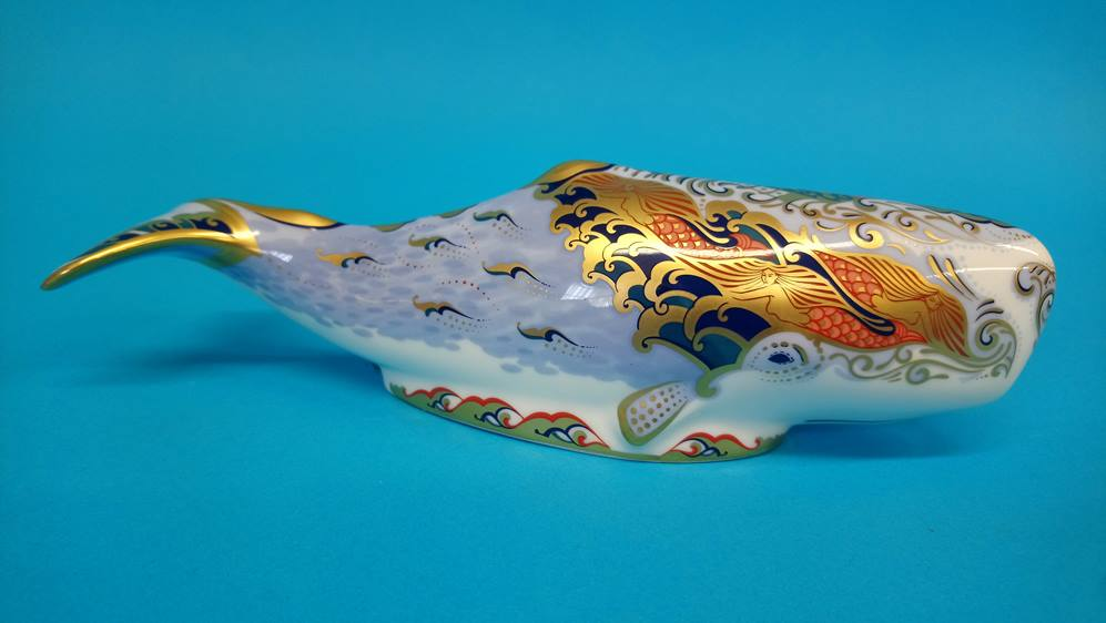 Four Royal Crown Derby paperweights 'Oceanic whale - Image 4 of 7