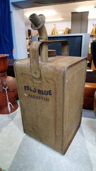 Esso blue paraffin container