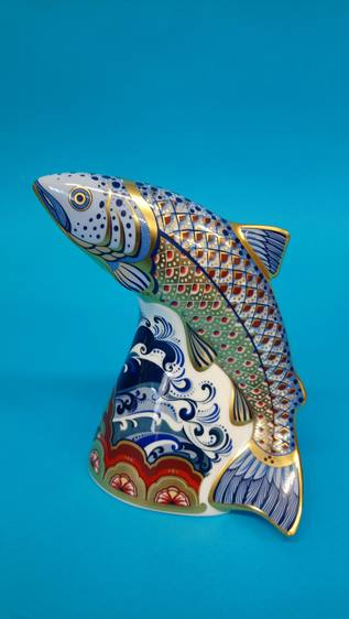 Four Royal Crown Derby paperweights 'Oceanic whale - Image 3 of 7