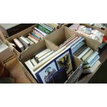 Three boxes of military books