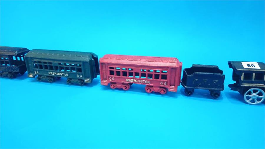 Lot 50 - A modern cast iron train set.