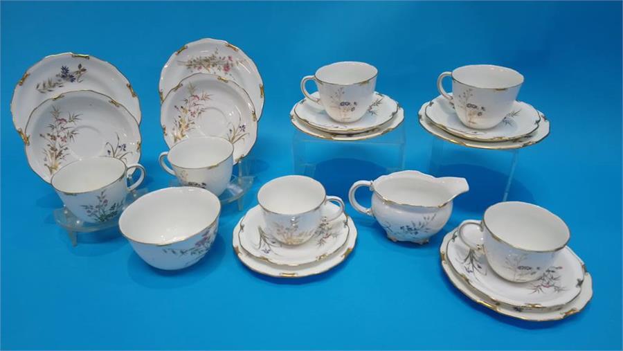 Lot 12 - A Royal Crown Derby 'Devonshire' tea set.