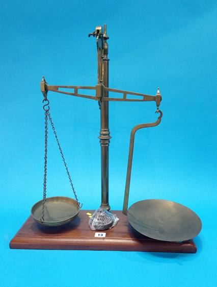 Lot 13 - A set of scales and weights.