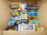 Lot 2 - QUANTITY OF TOY CARS, SOME BOXED, INCLUDING CORGI & MATCHBOX