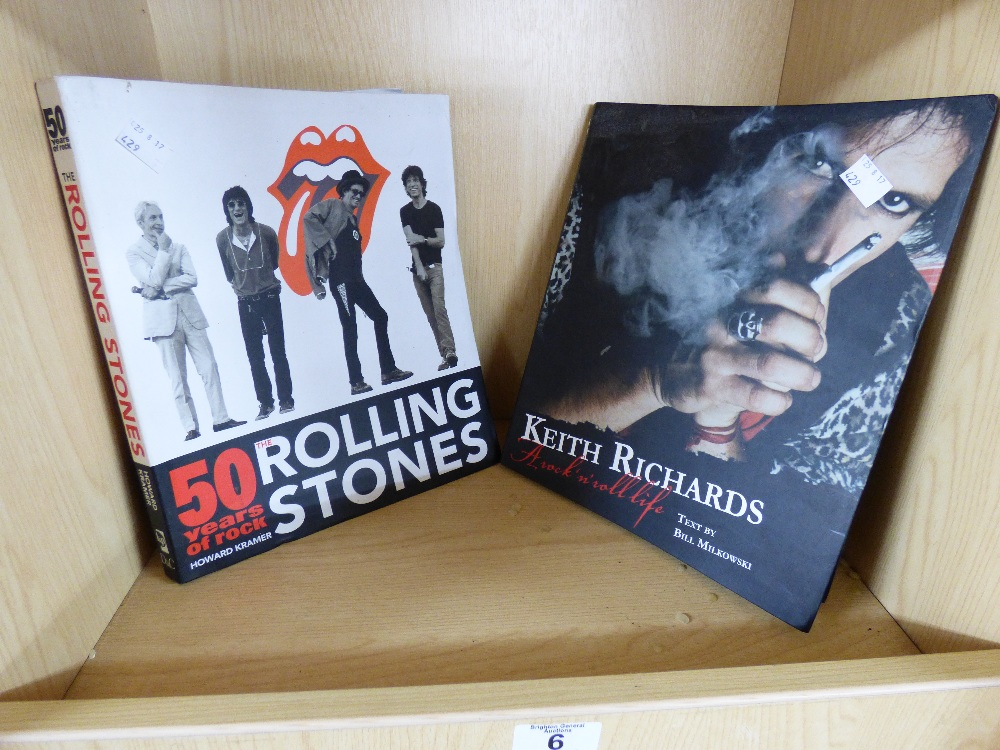 Lot 6 - ROLLING STONES / KEITH RICHARDS BOOKS