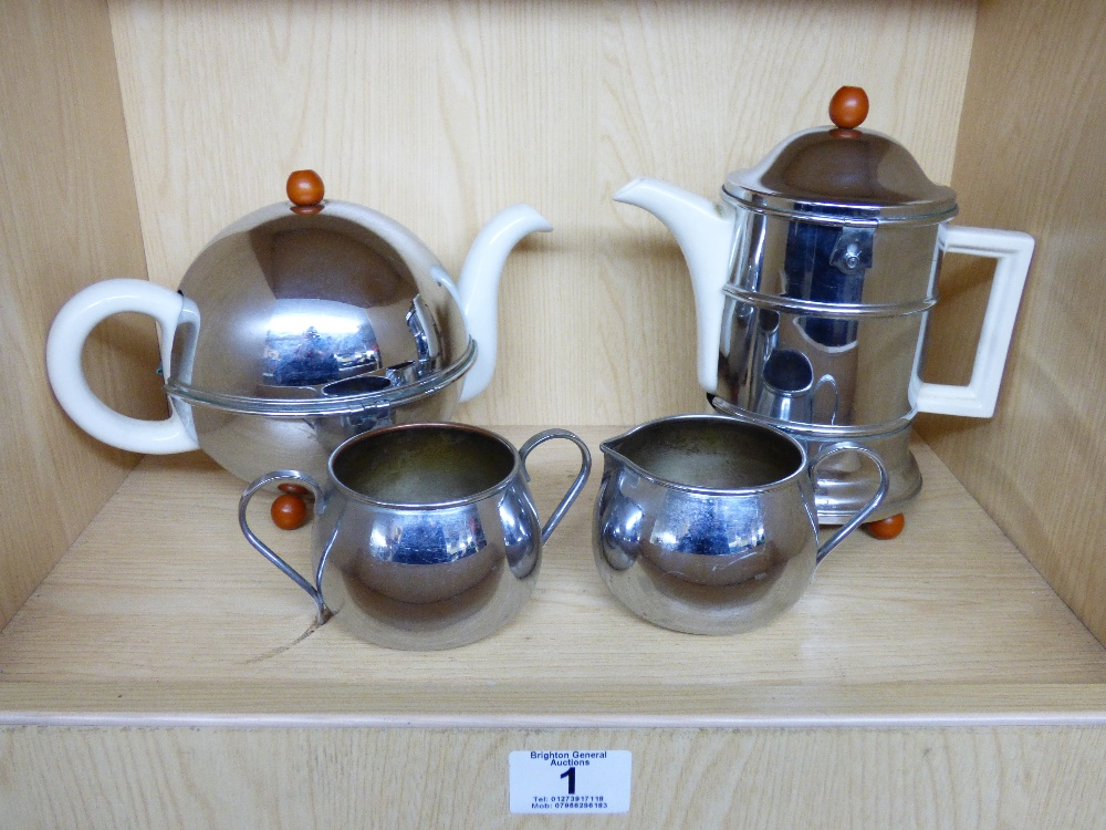 Lot 1 - KOSY KRAFT INSULATED TEA POT, COFFEE POT, MILK JUG & 1 OTHER