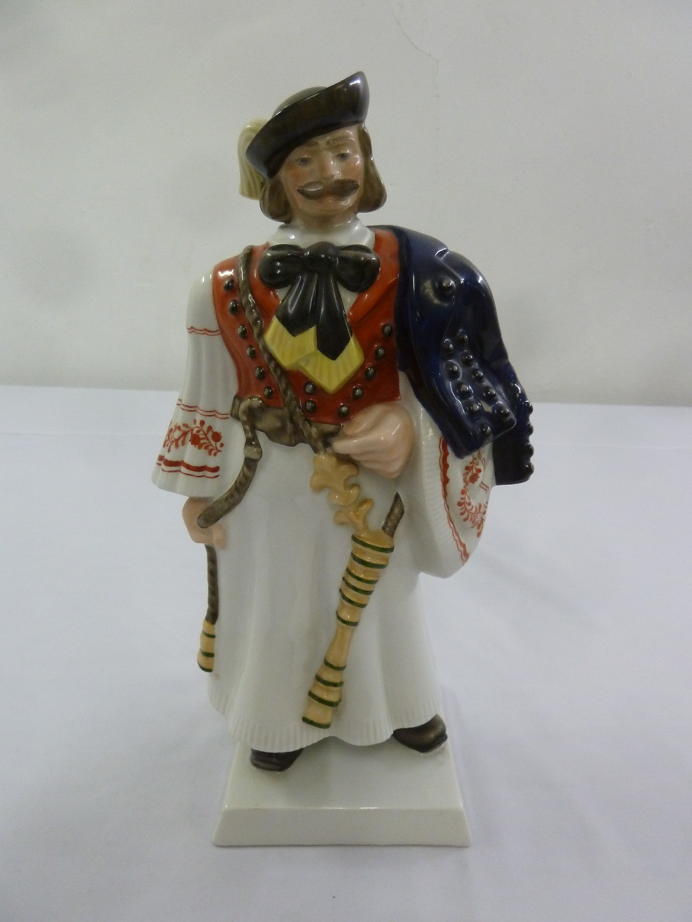 Lot 169 - Herend figurine of a Hungarian Hussar, marks to the base, 33cm (h)