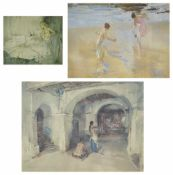 Sir William Russell Flint RA (British 1880 - 1969) a framed print of 'Bathers', number 367 of 650,