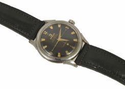 A 1954 Omega Constellation Chronometer Automatic Gents Watch the stainless steel case with black