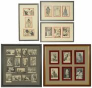 A collection of postcards of Tangier, early 20th century enclosed in two frames and further loose