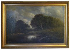 19th Century British school Hampstead Heath, extensive view with distant figures, in the manner of