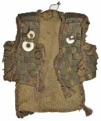 An unusual Polynesian/South Seas waistcoat, late 19th century constructed of woven rattan, trimmed