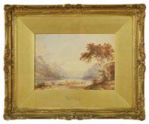 Anthony Vandyke Copley Fielding (British 1787 - 1855) R.W.S. 'Ballachulish, N.B.' a scene of figures