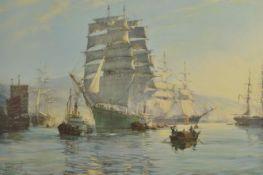Montague Dawson RMSA (British 1890 - 1973) two gilt framed prints depicting 'The Windsor Castle'