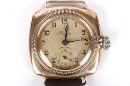 A gentleman's Rolex Oyster Ultra Prima 9ct gold manual wind wristwatch circa 1930 with rectangular