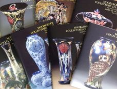 A large collection of Moorcroft Collectors magazines and 'Moorcroft The Phoenix Years' by Fraser