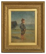 Follower of Edouard Frere 'Boy looking out to sea' bears the signature lower left E.J. Frere 64, oil