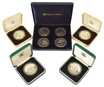 A collection of Guernsey Coin £2 and £5 Silver Proofs comprising of two 1985 Queen Elizabeth II