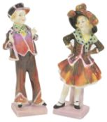 A Royal Doulton 'Pearly Boy' and 'Pearly Girl', 1930's each modelled in typical dress standing