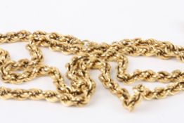 A Continental 18ct gold rope twist neck chain marked .750 approx weight 21g, approx length