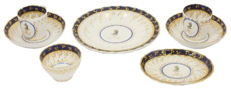 A small selection of early 19th century Chamberlain Worcester circa 1805 pattern No 66, comprising