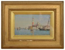 Federico del Campo (Peruvian 1837-1927) 'San Giorgio Maggiore, Venice' signed and dated lower