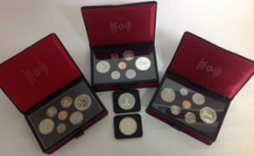 A collection of Canadian Silver Proof Coins comprising of two 1977 Canada Queen Elizabeth II
