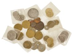 A collection of French coinage 19th century and 20th century, comprising of 6 x 50 1952 and 1953