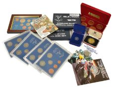 A collection of Isle of Man Coinage comprising of four 6 coin 1976 Isle of Man Decimal Coins sets;