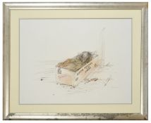 """Ralph Steadman (British b.1936) """"Produce of a Civilised Society' depicting a homeless person in a"""