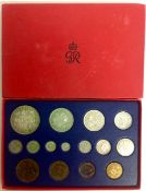 A boxed set of George VI 1937 Coronation proof set of coins complete in a fitted red box with GR