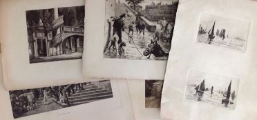 A interesting collection of mixed engravings and prints, unframed various dates and subjects