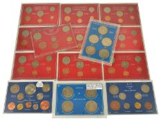 A collection of British Coinage sets to include Britain's First Complete Set of Decimal Coins