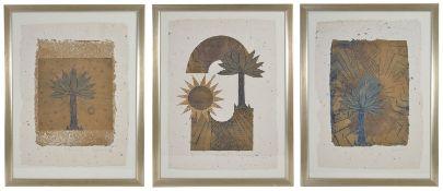 Mary Rose O'Neill (Irish b. 1961) the Palm Series 'Palm Tree I', 'Palm Tree II', 'Palm Tree III',