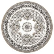 A Rosenthal Versace Marqueterie pattern circular platter, 20th centurythe Greek key and leaf