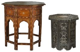 A Moroccan octagonal side table, early 20th century,