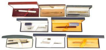 A collection of Cross, Sheaffer, Waterman, Hartcourt and Caran d'Ache pens, comprising a Cross 10K