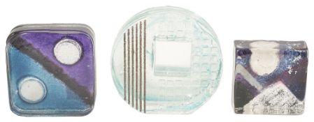 A Sarah Peterson for Caithness 'Hollows' art glass sculpture, 21st centuryof circular form with