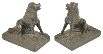 A pair of carved serpentine Jennings dogs, late 19th/early 20th century