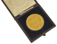 A 22ct gold University of London Bachelor of Surgery Prize Medal Presented to Henry Betham