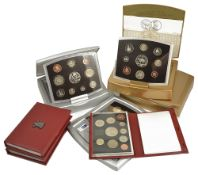 A selection of UK Coinage2 x 1997 UK Deluxe proof ten coin sets, 1 x UK Deluxe proof ten coin set, 1