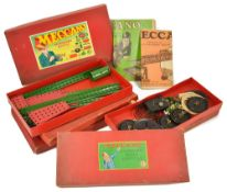 A selection of Meccano accessory outfits, to include boxed sets of No.1, 1A, 2A, 3A, 4A, a/f, (5)