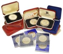 A selection of Isle of Man, Guernsey, Gibraltar Coinage4 x IOM 1976 Centenary of the Horse Tram
