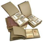 A collection of black and white photograph and greeting card albums, 1930'scomprising photographs of