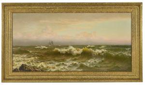 Walter James Shaw (British 1851 - 1933) sailing in choppy coastal seas