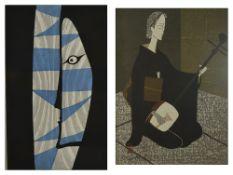 Takumi Shinagawa (Japanese 1908 - 2009)Kabuki Actor (Halyu) woodblock print, signed in pencil