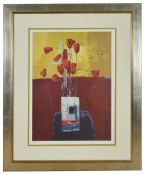 Kirsty Wither (British b.1968)two floral limited edition prints, signed and framed, entitled 'Golden