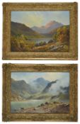 Douglas Falconer (British 1913 - 2004) Loch Tay depicting sheep grazing