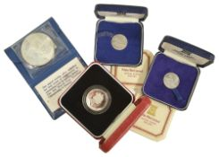 A selection of Sporting, USA and UK Commemorative coinage1 x 1996 UK silver proof œ2 coin 'A