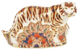 A Modern Royal Crown Derby old Imari figure of a 'Bengal Tiger'